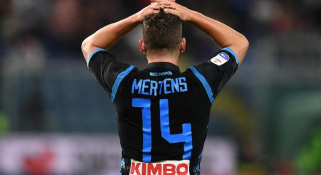 Verso Napoli-Lazio, leggera distorsione per Mertens: a rischio la sua presenza sabato