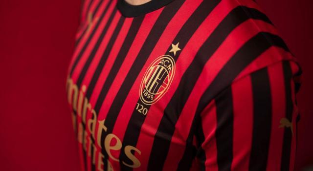 La maglia della Puma per i 120 anni del Milan