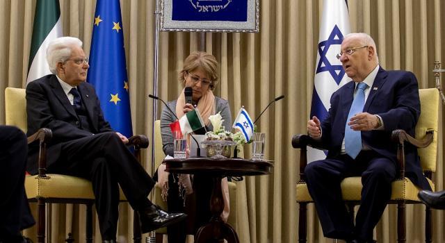 """Il presidente Mattarella in Israele: """"Vigilare contro l'antisemitismo"""""""