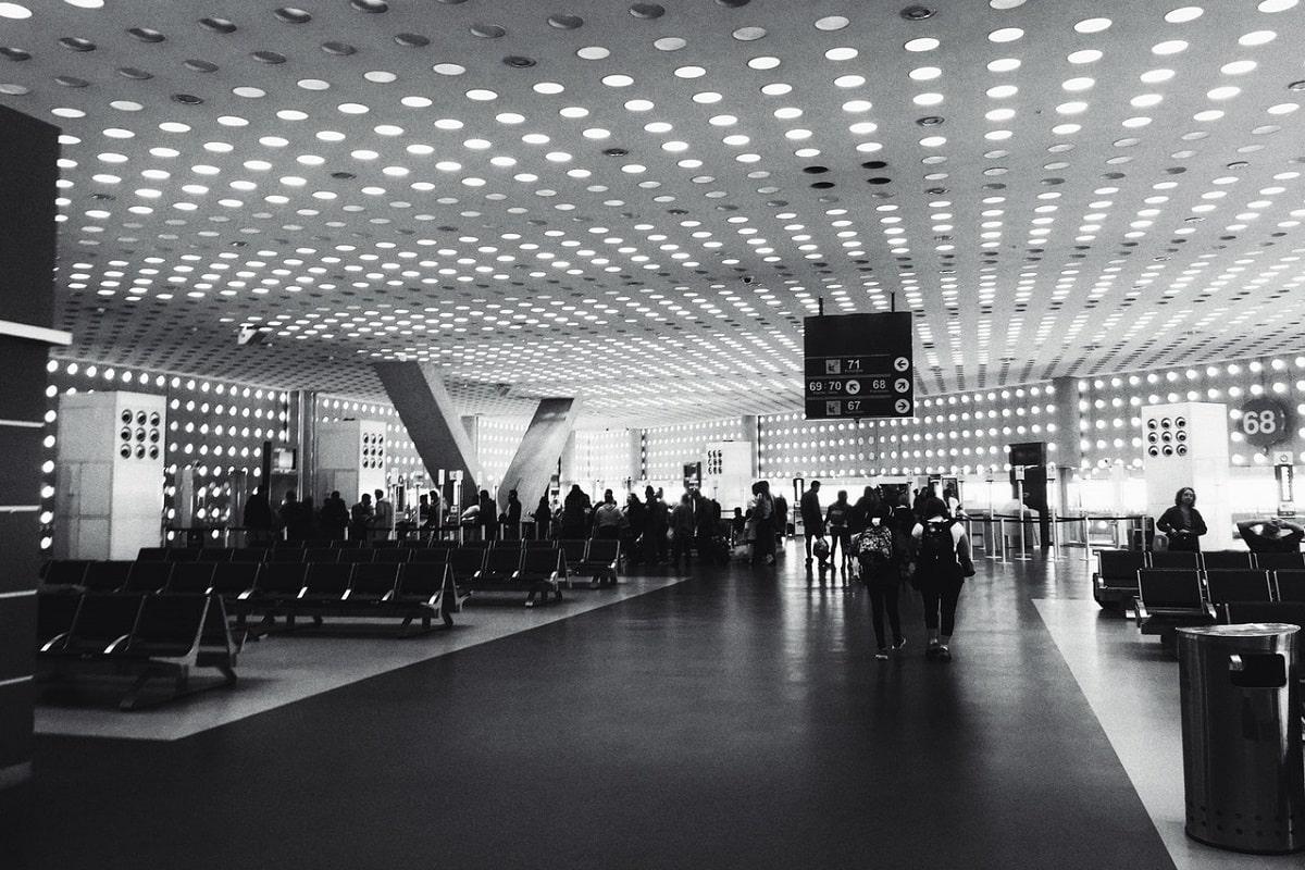 Passeggeri in aeroporto