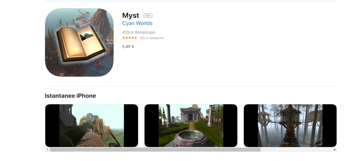 Myst iPhone