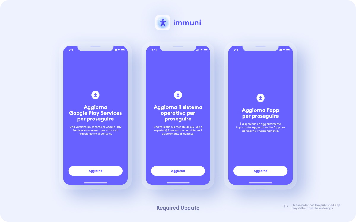 App Immuni disponibile sullo store di Google e di Apple