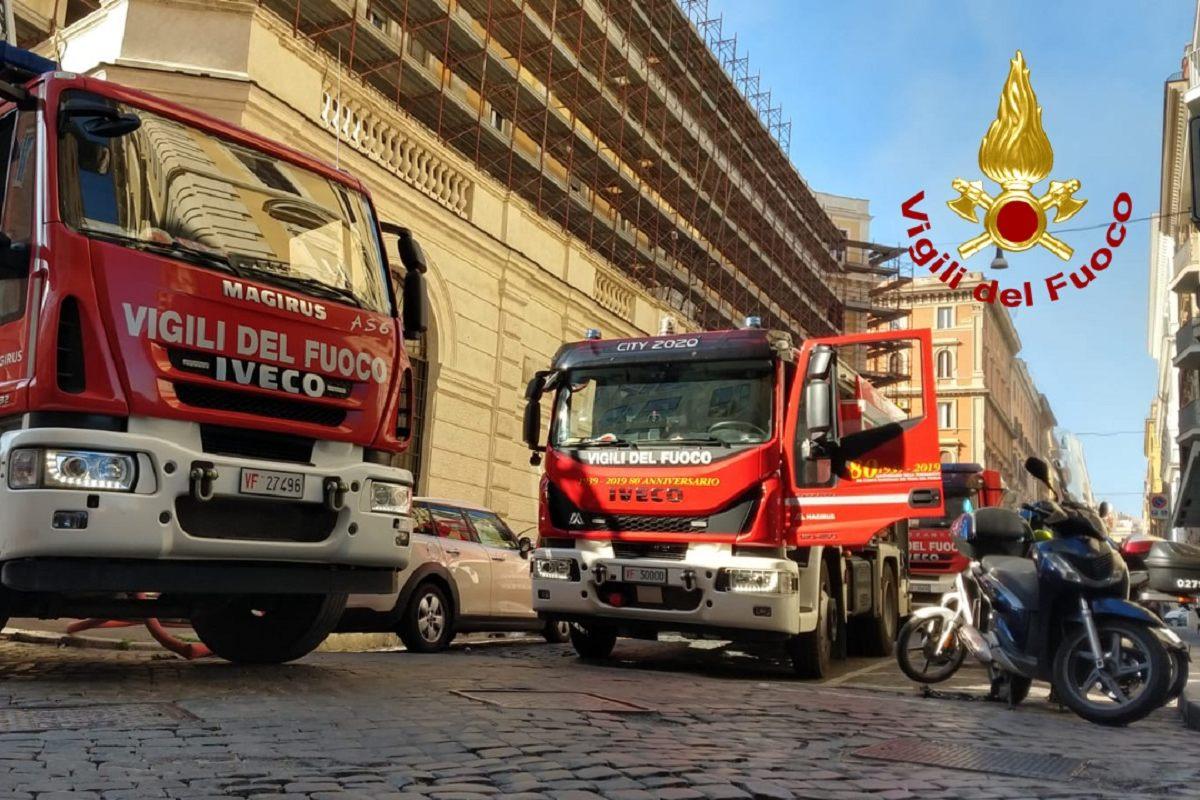 Incendio Ministero del Lavoro
