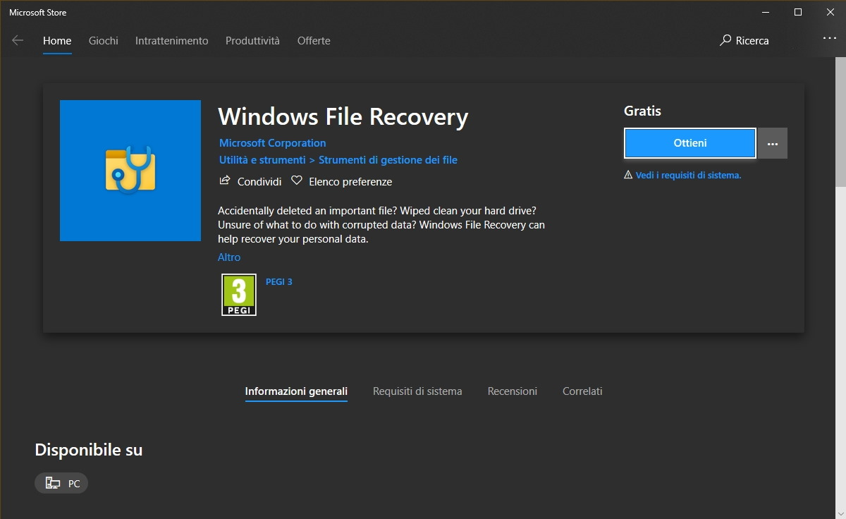 Windows File Recovery Microsoft Store