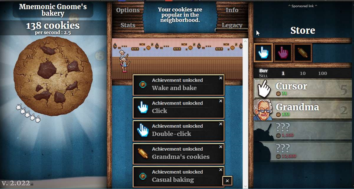 Giochi passatempo cookie clicker