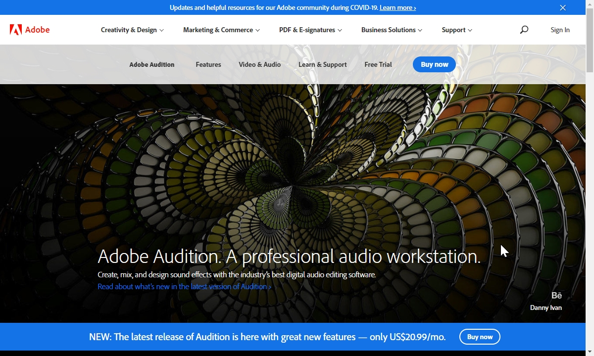 estrarre audio da video Adobe Audition