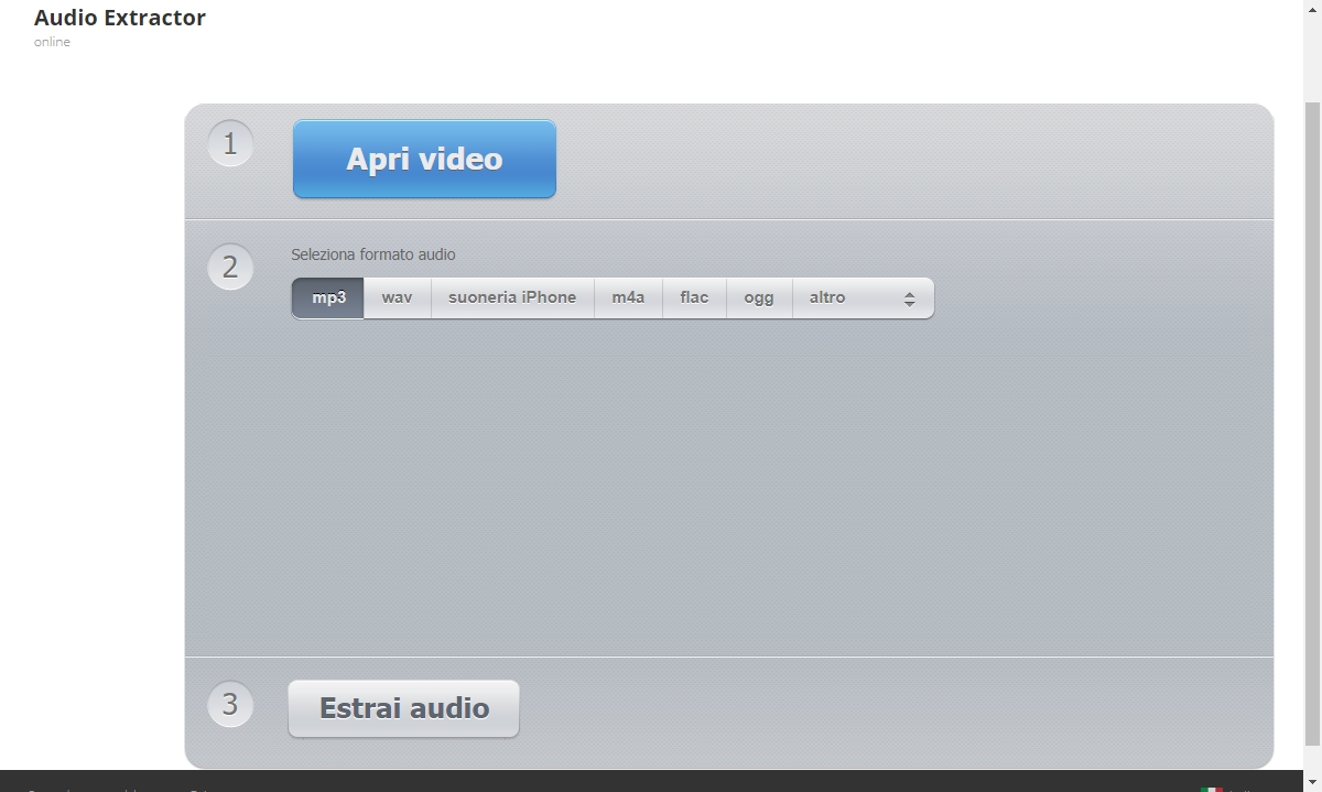 estrarre audio da video Audio_Extractor