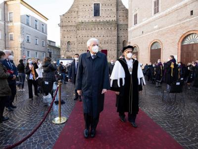 Università, Mattarella a Macerata per la cerimonia di inaugurazione dell'anno accademico