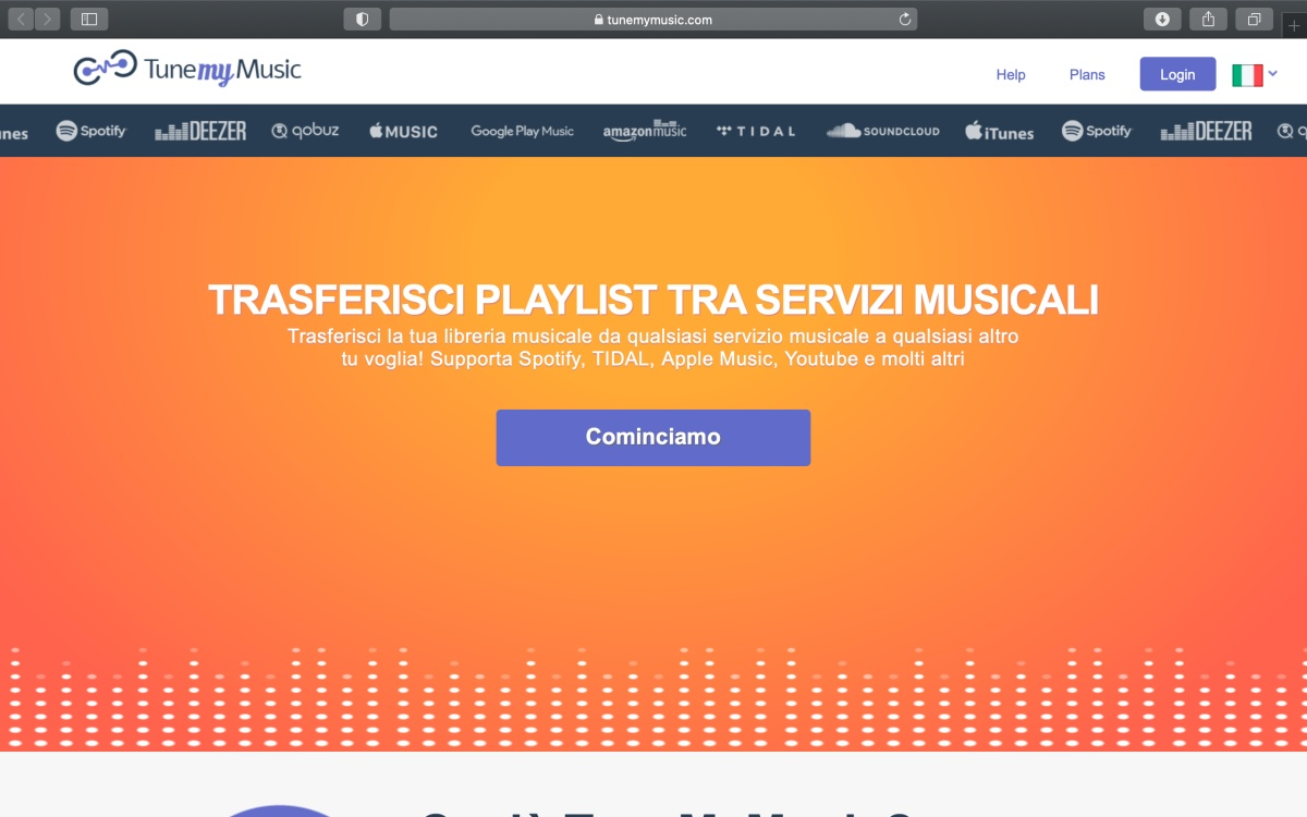 trasferire playlist tune my music