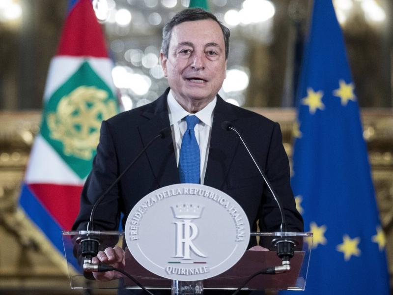"""Draghi a Bari: """"Le aspirazioni dei giovani sono al centro dell'azione di governo"""""""