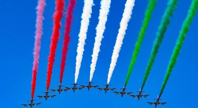 60 anni di storia per le Frecce Tricolori. La manifestazione all'aeroporto di Rivolto