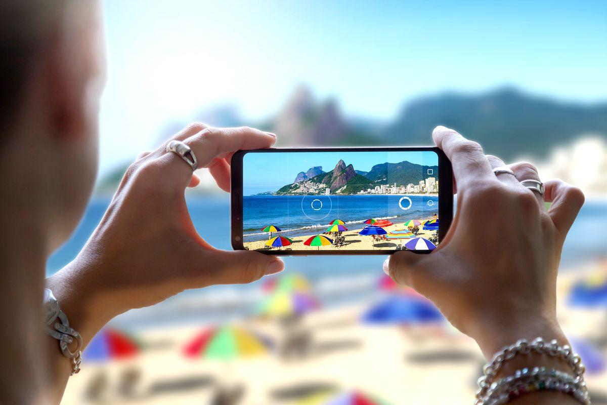Foto spiaggia smartphone