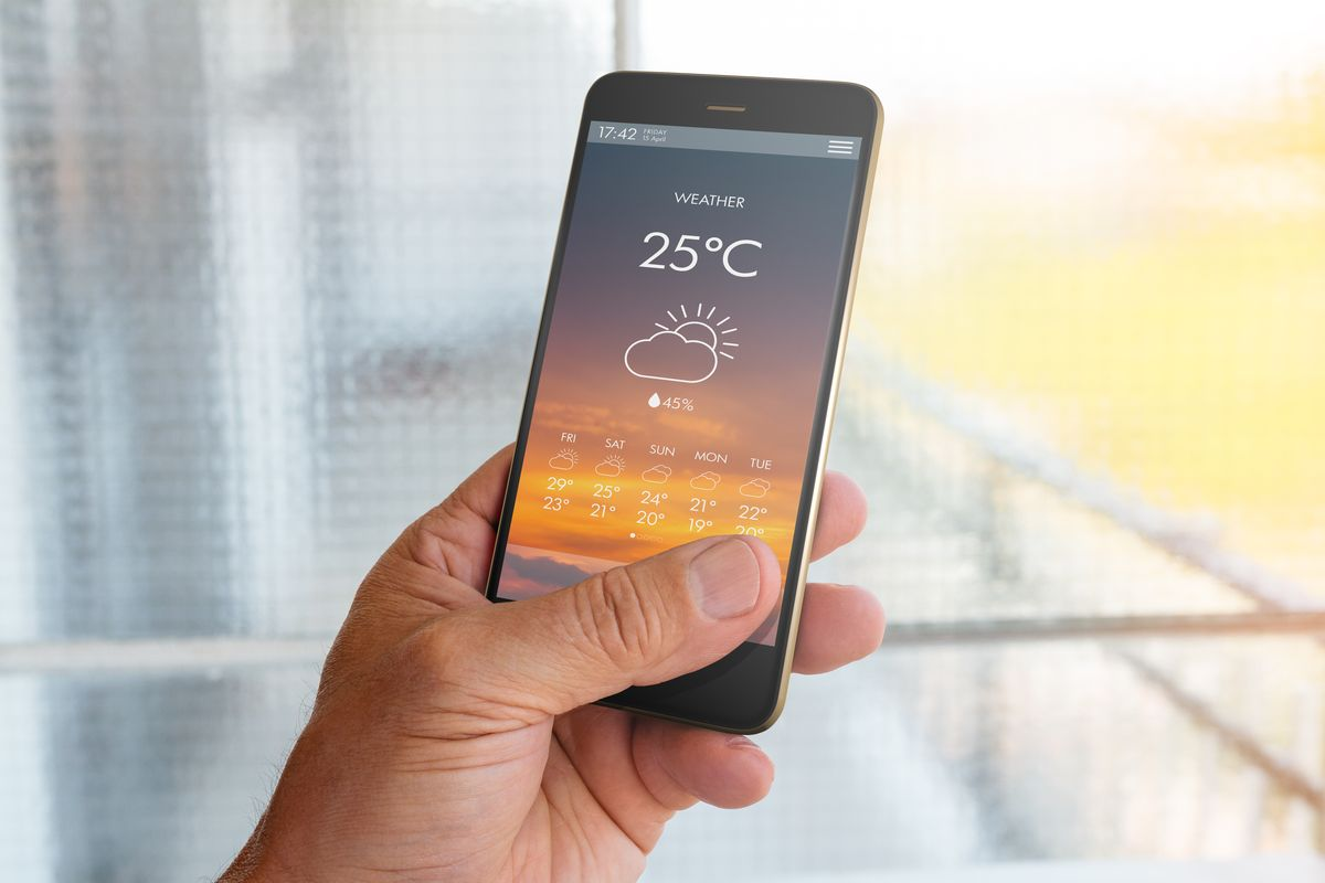App meteo su smartphone