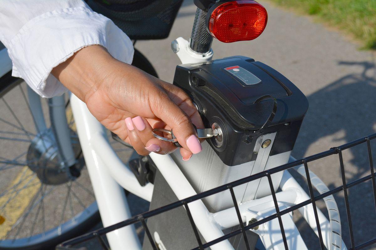 Chiave batteria bici elettrica
